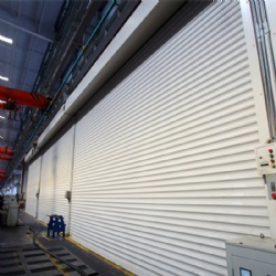 Industrial roller shutter door