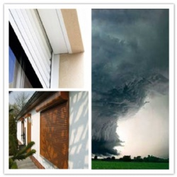 Hurricane Roller shutter Window